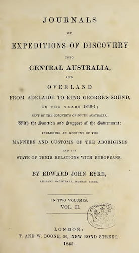Aquatint & Lithography - Journals of Expeditions of Discovery into Central Australia Vol. 2