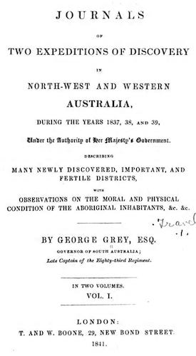 Aquatint & Lithography - Journals of Two Expeditions of Discovery in Australia Vol. 1