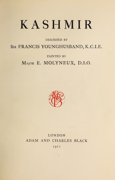 Kashmir, Painted and Described - Title Page (1911)