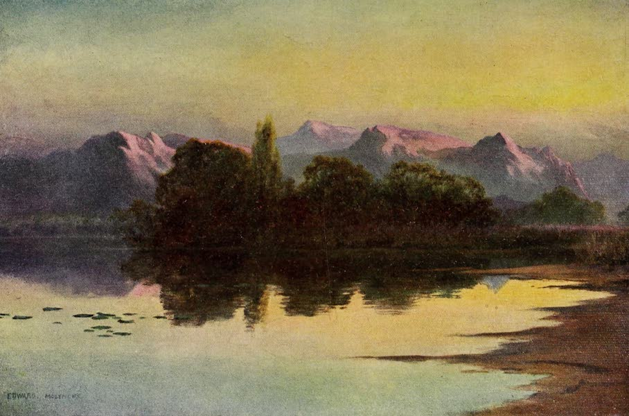 Kashmir, Painted and Described - Sunset on the Wular Lake (1911)