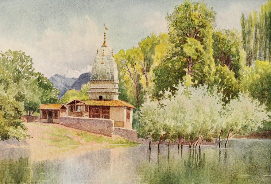 Kashmir, Painted and Described - The Temple, Chenar Bagh (1911)