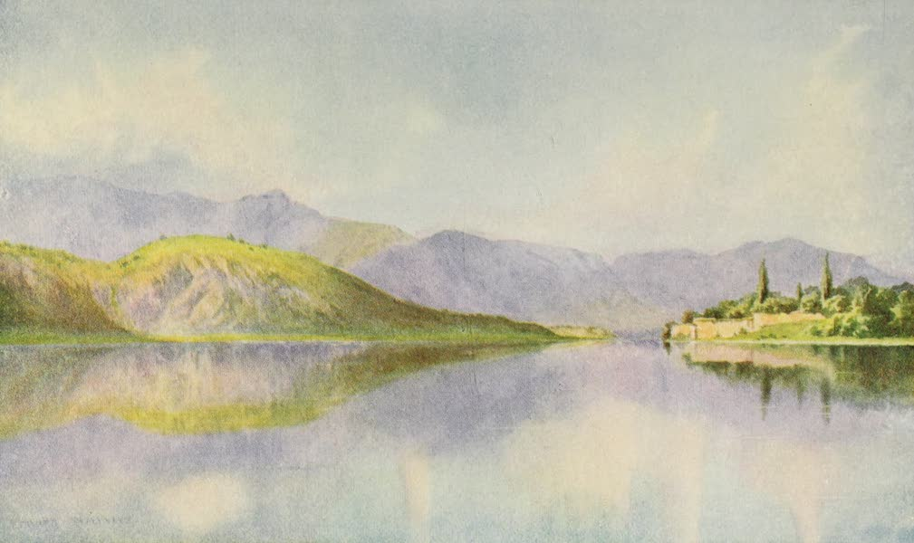 Kashmir, Painted and Described - Ruins of Lalla Rookh's Gardens, Lake Manasbal (1911)