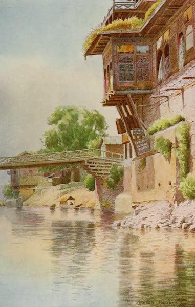 Kashmir, Painted and Described - Shawl Merchants' Shops, Third Bridge, Srinagar (1911)