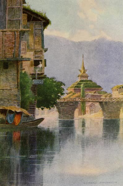 Kashmir, Painted and Described - Mosque of Shah Hamadan, Srinagar (1911)