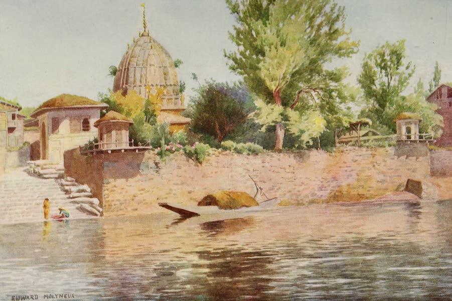 Kashmir, Painted and Described - A Hindu Temple, Srinagar (1911)