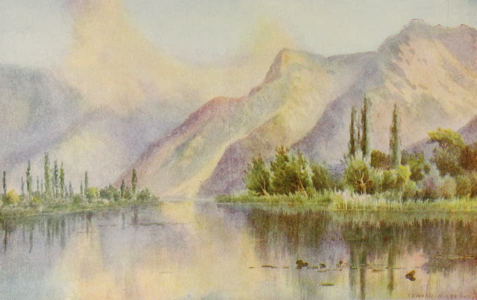 Kashmir, Painted and Described - Guggribal Pointe on the Dal Lake (1911)