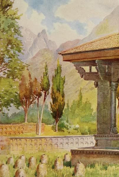 Kashmir, Painted and Described - The Takht-i-Suliman, from the Residency Garden (1911)