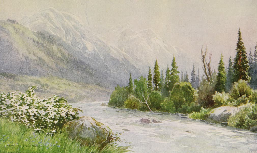 Kashmir, Painted and Described - Early Morning near Pahlgam, Lidar Valley (1911)