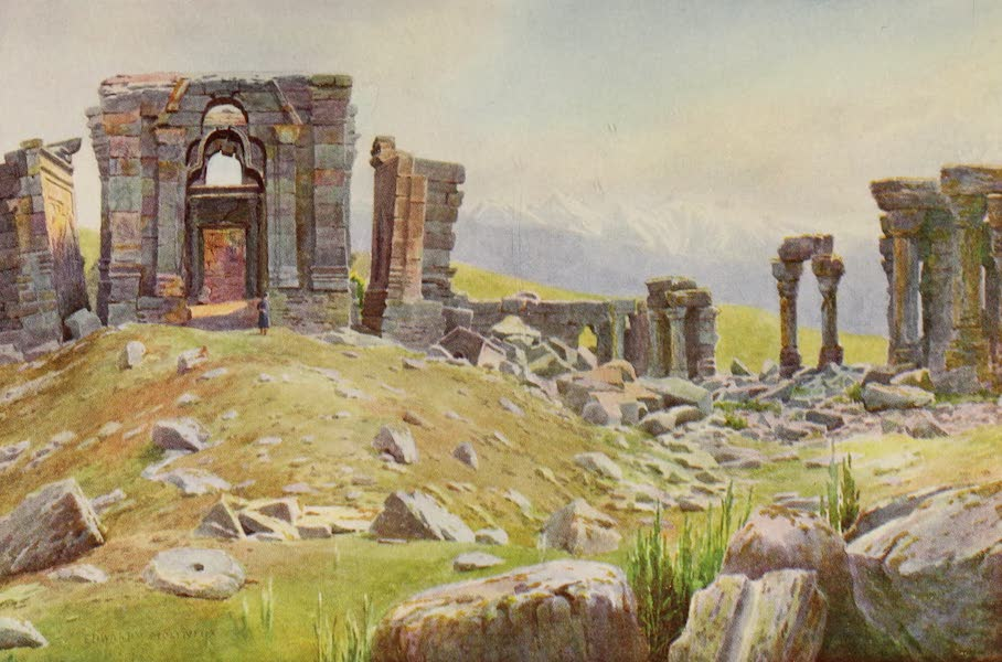 Kashmir, Painted and Described - The Ruins of Martand (1911)