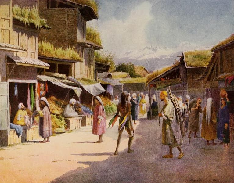 Kashmir, Painted and Described - A Srinagar Bazaar (1911)
