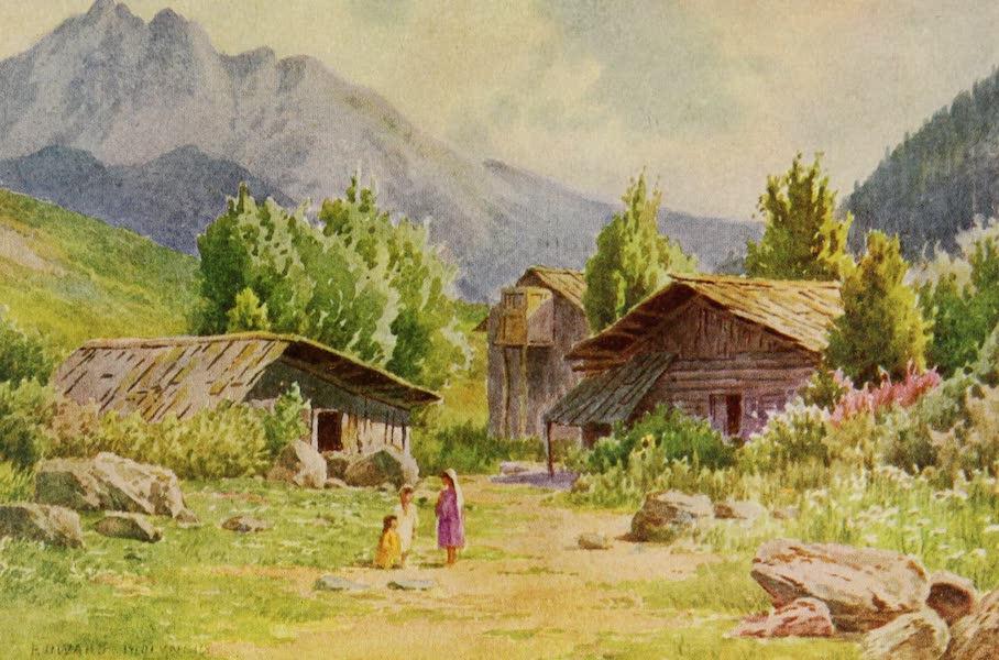 Kashmir, Painted and Described - A Corner of the Village of Pahlgam, Lidar Valley (1911)