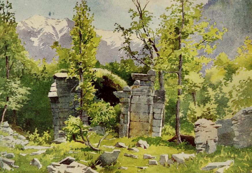 Kashmir, Painted and Described - Ruins of Temples, Wangat, Sind Valley (1911)