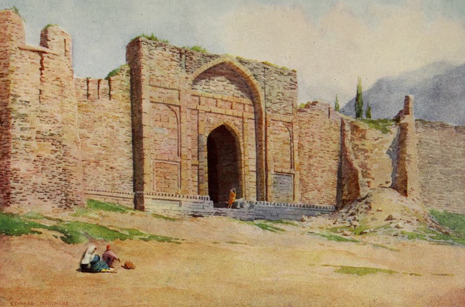 Kashmir, Painted and Described - Gate of the Outer Wall, Hari Parbat Fort, Srinagar (1911)