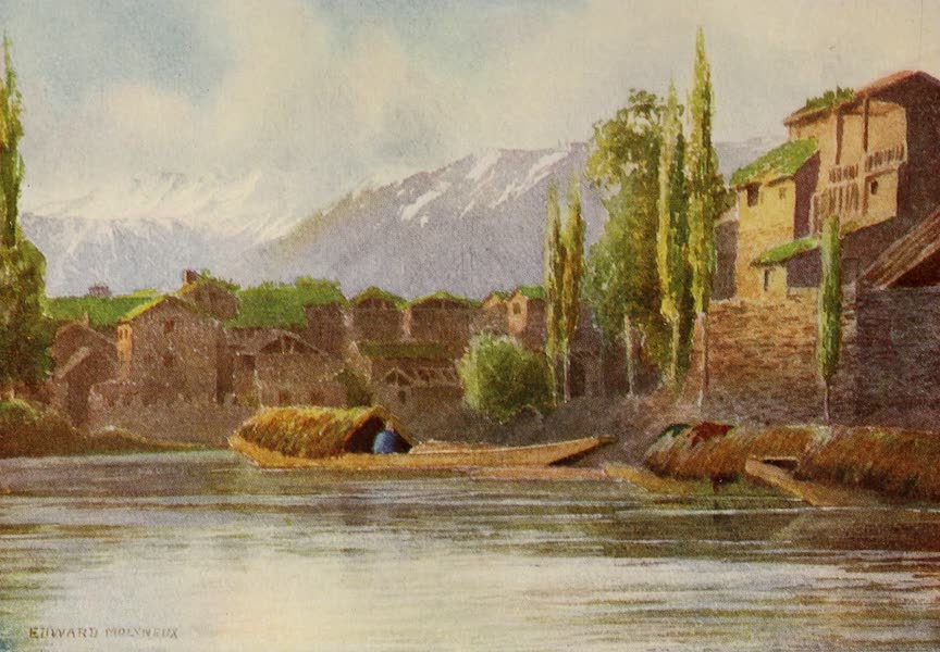 Kashmir, Painted and Described - Spring Floods in the Kutical Canal, Srinagar (1911)