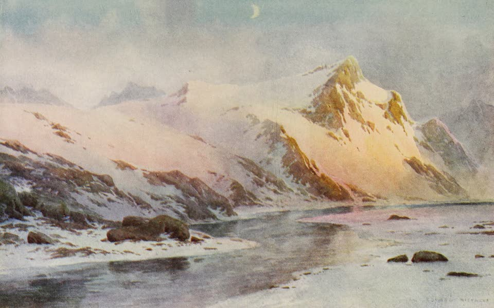 Kashmir, Painted and Described - A Mountain Glen, before the Melting of the Snows (1911)