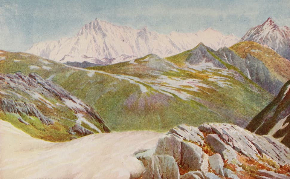 Kashmir, Painted and Described - Distant View of Xanga Parbat, from the Kamri Pass (1911)