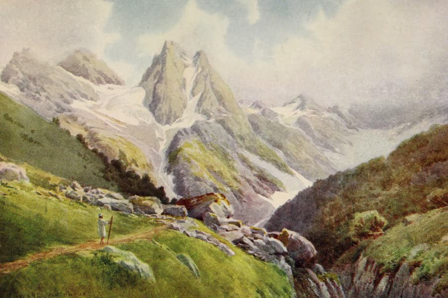 Kashmir, Painted and Described - Near the Kolahoi Glacier, Lidar Valley (1911)