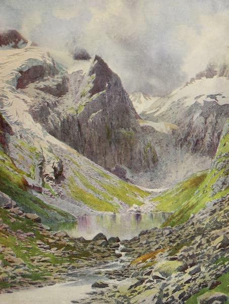 Kashmir, Painted and Described - Lake Sinsa Nag, Lidar Valley (1911)