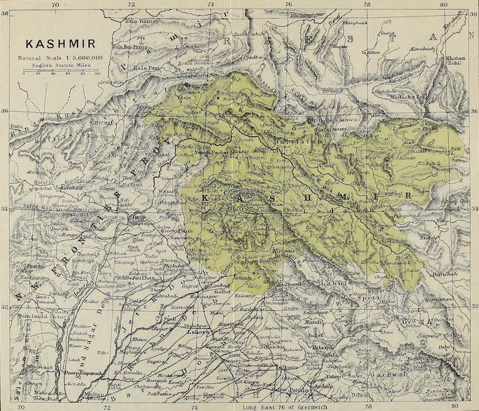Kashmir, Painted and Described - Sketch Map of Kashmir (1911)