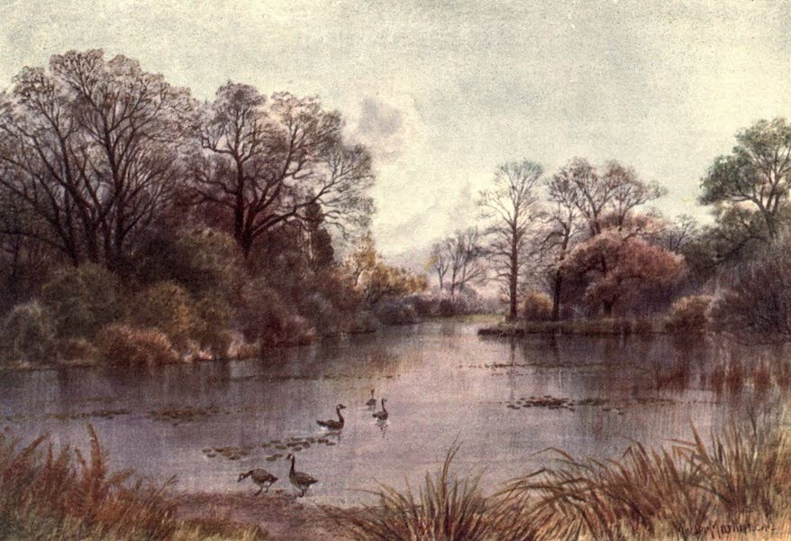 Kew Gardens, Painted and Described - The Lake (1908)