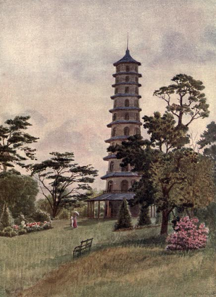 Kew Gardens, Painted and Described - The Pagoda (1908)