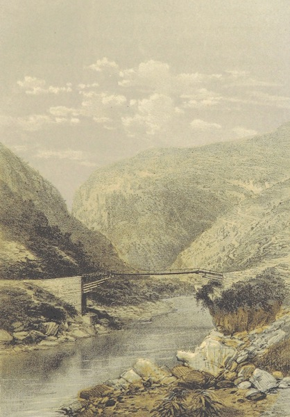 Kulu: It's Beauties, Antiquities and Silver Mines - Bridge Over the Saing River from Largi to Kulu (1873)