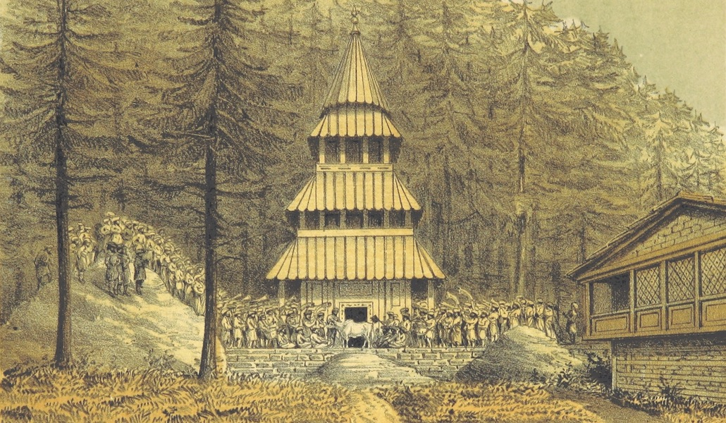 Kulu: It's Beauties, Antiquities and Silver Mines - Sacrifice at Dungree Temple (1873)