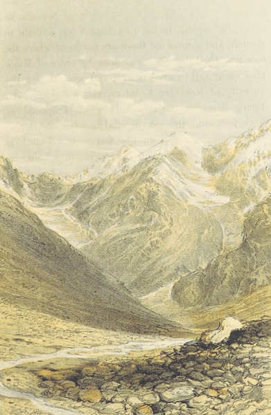 Kulu: It's Beauties, Antiquities and Silver Mines - View of Lahoul from Kansas Pass - 14,931 ft. (1873)