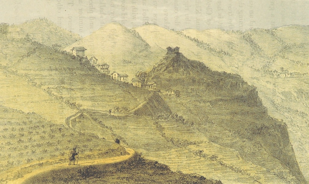 Kulu: It's Beauties, Antiquities and Silver Mines - Chong from the North - Bijli Temple (8,076 ft.) Opposite (1873)