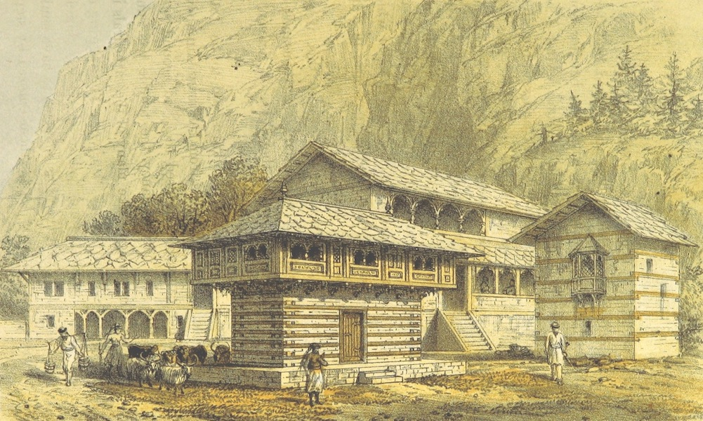 Kulu: It's Beauties, Antiquities and Silver Mines - Stone House at Manikarn, Parbutti Valley (1873)