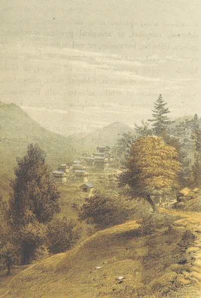 Kulu: It's Beauties, Antiquities and Silver Mines - Village of Chate on Road to Kulu from Simla (1873)