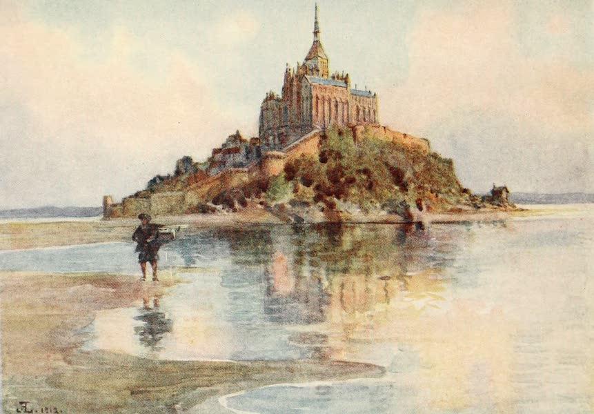 La Côte d'Émeraude, Painted and Described - Mont St. Michel from Tombelaine : Evening (1912)