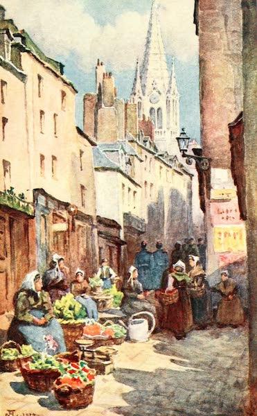 La Côte d'Émeraude, Painted and Described - Vegetable Market, St. Malo (1912)