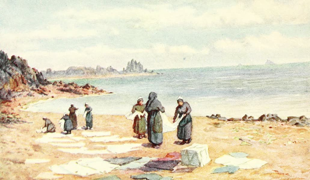 La Côte d'Émeraude, Painted and Described - Drying Day at La Houle (1912)