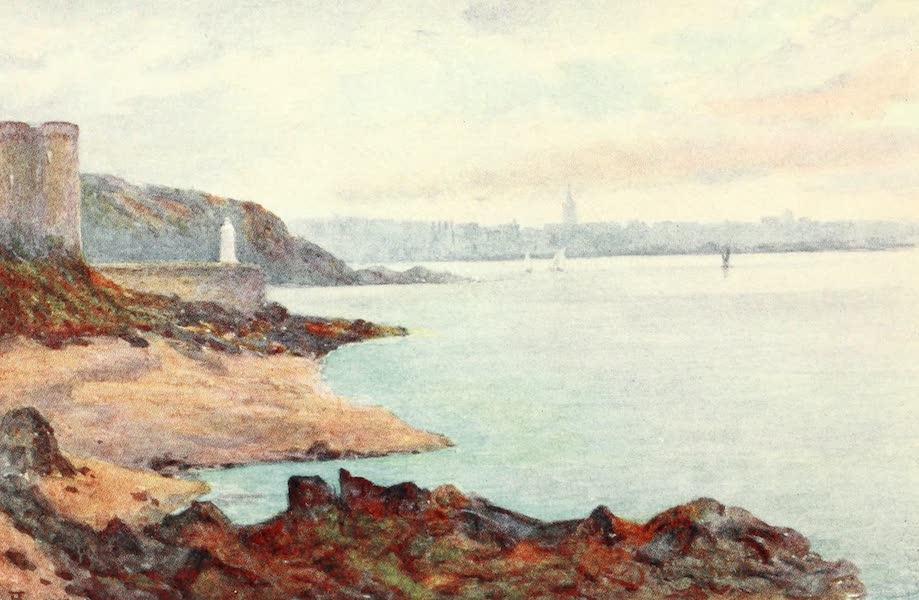La Côte d'Émeraude, Painted and Described - Mole des Noires and Dinard, from St. Malo Beach (1912)