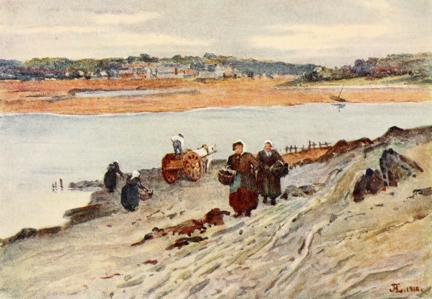 La Côte d'Émeraude, Painted and Described - Seaweed Gathering on the Estuary of the Ranee (1912)