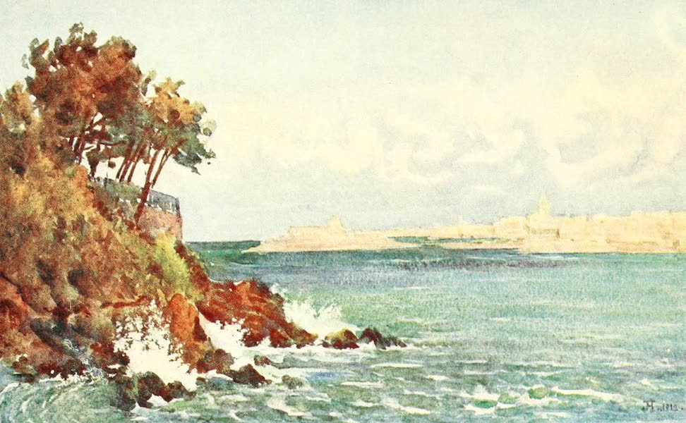 La Côte d'Émeraude, Painted and Described - St. Malo from the Priory Beach, Dinard (1912)