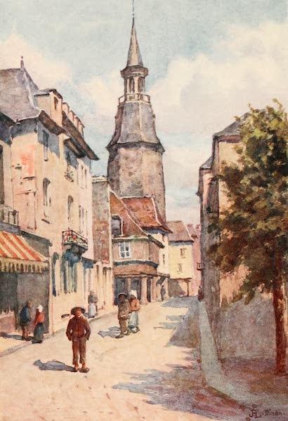 La Côte d'Émeraude, Painted and Described - Rue de l'Horloge, Dinan (1912)