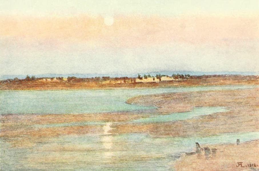 La Côte d'Émeraude, Painted and Described - Moonrise at Sunset, from La Croix Blanche, Mont St. Michel (1912)