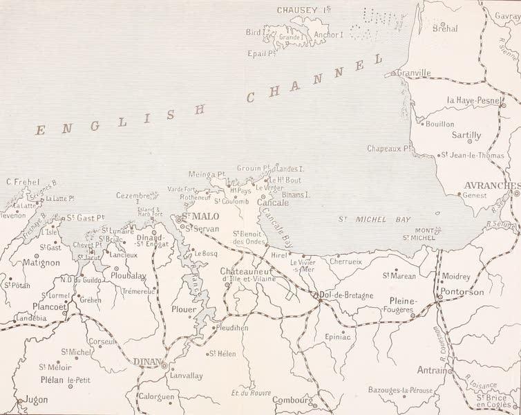 La Côte d'Émeraude, Painted and Described - Sketch Map of La Cote d'Emeraude (1912)