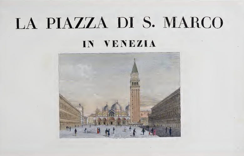 Aquatint & Lithography - La Piazza di San Marco in Venezia