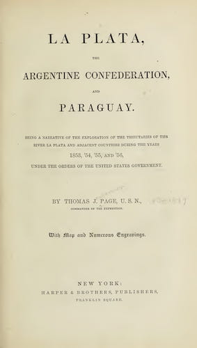 English - La Plata, the Argentine Confederation and Paraguay