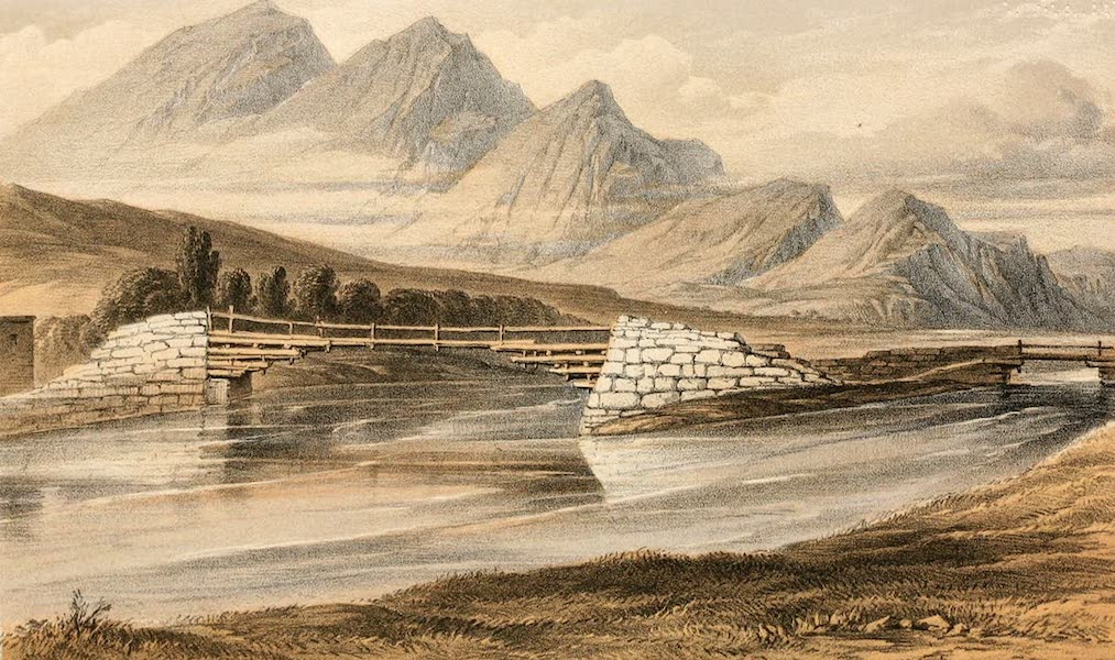 Ladak, Physical, Statistical, and Historical - Wooden Bridge over the Indus, near Le (1854)