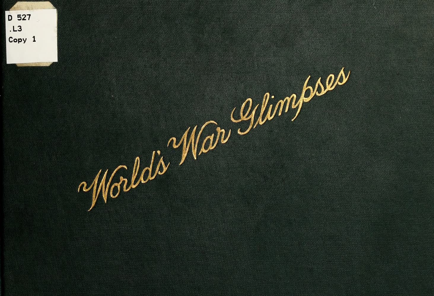 Laird & Lee's World's War Glimpses - Front Cover (1914)