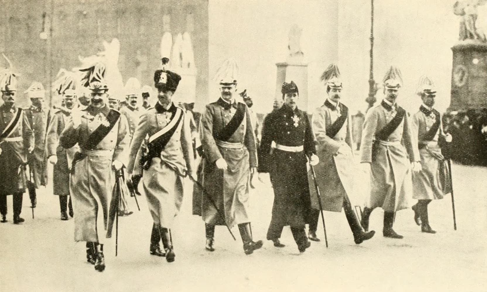 Laird & Lee's World's War Glimpses - German Kaiser and Sons in Military Parade in Berlin (1914)