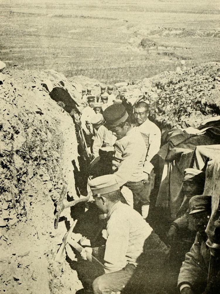 Laird & Lee's World's War Glimpses - Japanese Soldiers Digging Trenches (1914)