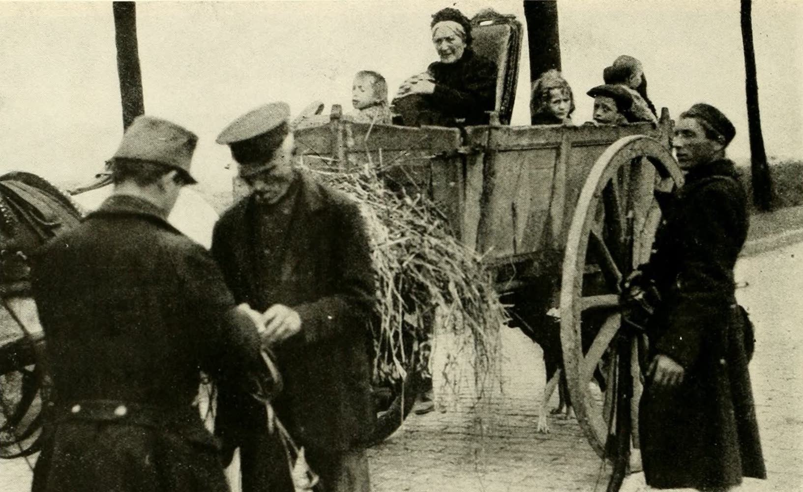 Laird & Lee's World's War Glimpses - Refugees Fleeing From Louvain (1914)