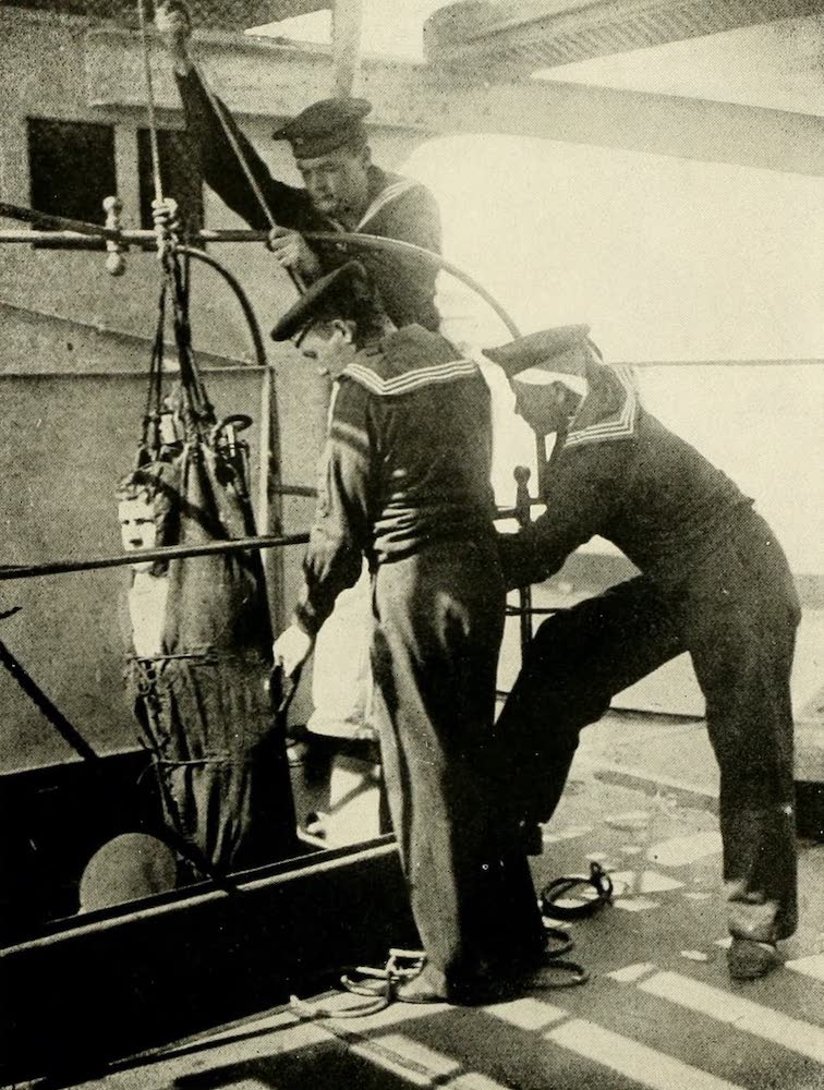 Laird & Lee's World's War Glimpses - German Jack Tars Lowering Their Wounded Into the Hospital Between Decks (1914)
