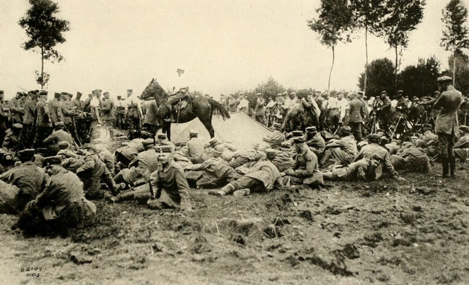 Laird & Lee's World's War Glimpses - The German Bivouac After the Battle of Vise (1914)