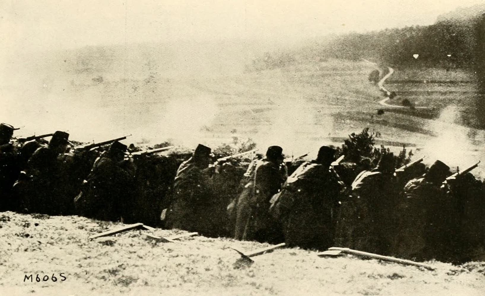 Laird & Lee's World's War Glimpses - French Infantry Directing Gruelling Fire From Rapidly Dug Trenches (1914)
